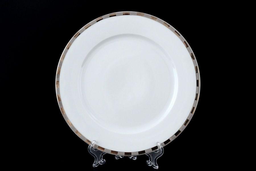 "Набор тарелок 19 см ""Опал Платиновые пластинки"", 6 шт."