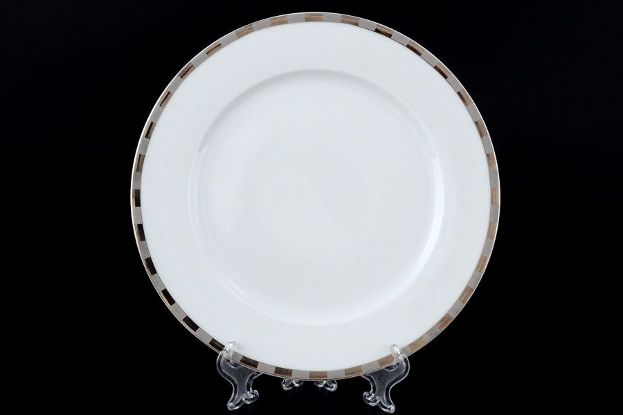 "Набор тарелок 21 см ""Опал Платиновые пластинки"", 6 шт."