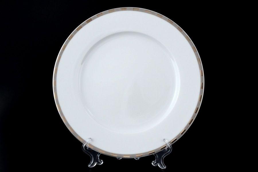"Набор тарелок 25 см ""Опал Платиновые пластинки"", 6 шт."