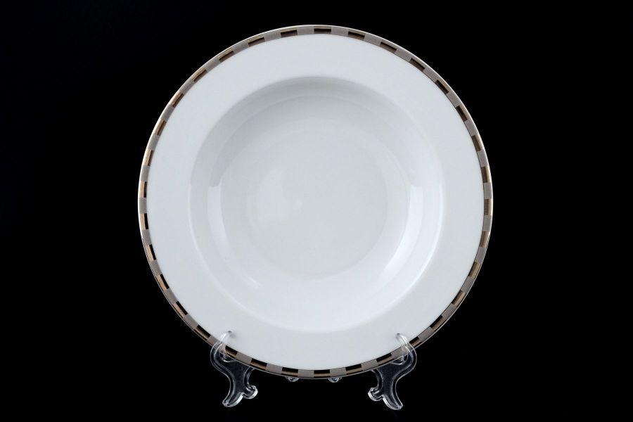 """Набор тарелок глубоких 22 см """"Опал Платиновые пластинки"""", 6 шт."""