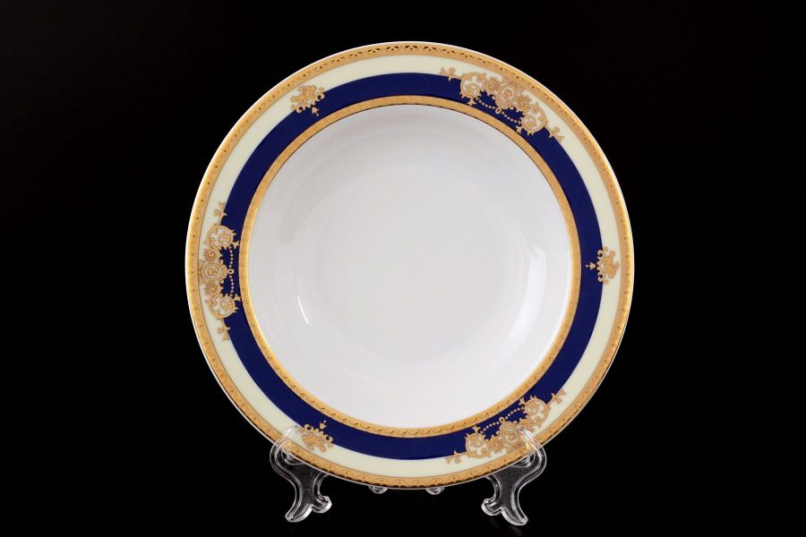 "Набор тарелок глубоких 22 см ""Яна Кобальтовая лента"", 6 шт."
