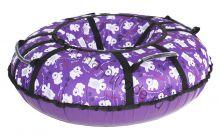 Тюбинг Hubster Люкс Pro Мишки фиолетовые 80 см