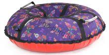 Тюбинг Hubster Люкс Pro Бабочки фиолетовые 80 см