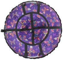Тюбинг Hubster Люкс Pro Бабочки фиолетовые 100 см