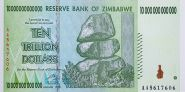 ЗИМБАБВЕ - 10 ТРИЛЛИОНОВ долларов 2008 UNC ПРЕСС из пачки