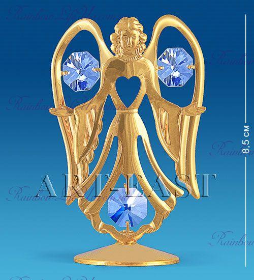 "Фигурка ангел с сердцем с камнями ""Swarovski"""