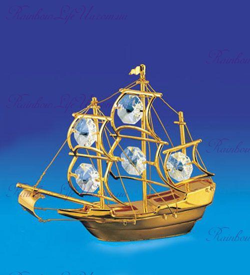 "Фигурка корабль с камнями ""Swarovski"""