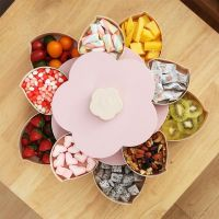 Раздвижная менажница для сухофруктов и конфет Candy Box Pattern Rotating, Цвет: Розовый