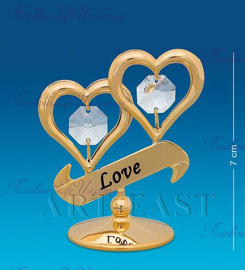"Фигурка сердца Love с камнями ""Swarovski"""
