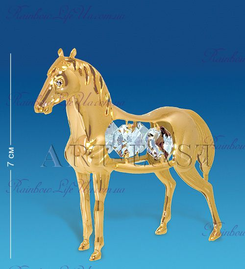 "Фигурка лошадка с камнями ""Swarovski"""