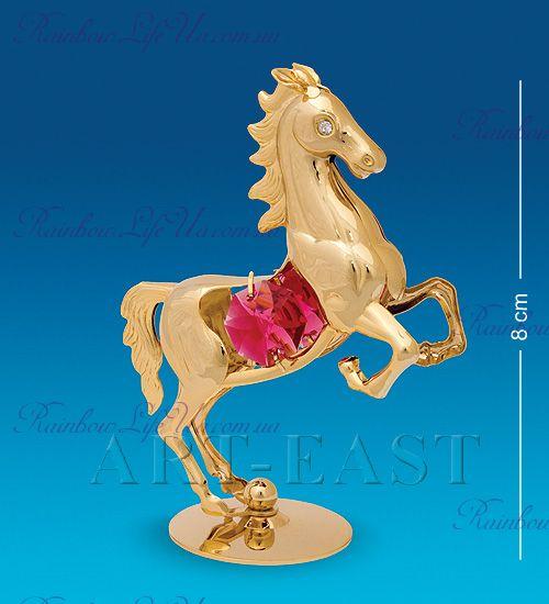 """Фигурка игривая лошадка с камнями """"Swarovski"""""""