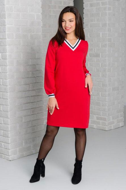 Платье домашнее арт.0251 красное, футер