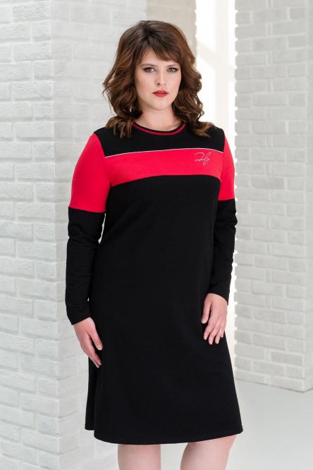 Платье домашнее арт.0199 черное, футер