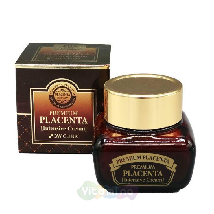 3W CLINIC Омолаживающий плацентарный крем для лица Premium Placenta Intensive Cream, 50 мл