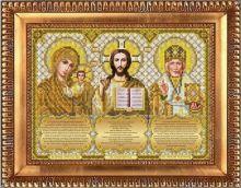 И-4092 Благовест. Триптих с молитвами в золоте. А4 (набор 750 рублей)