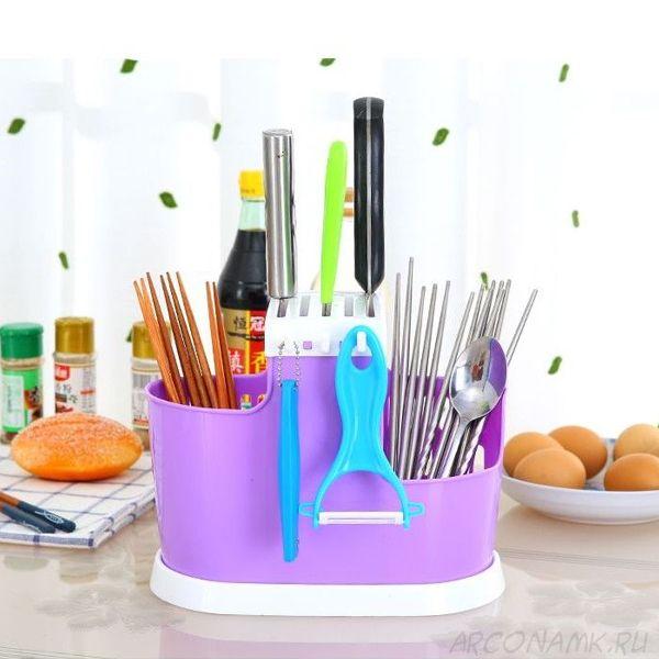 Органайзер для хранения столовых приборов Chopsticks Cage, Фиолетовый