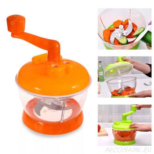 Универсальная механическая овощерезка Multi- functional Food Cooking Machine, Оранжевый