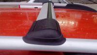 Багажник на рейлинги Lux Hunter, серебристый, крыловидные аэродуги