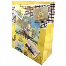 """Пакет подарочный """"Корабли"""", 26*32*10 см"""