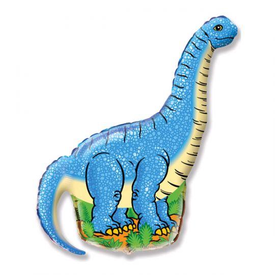 Динозавр Диплодок шар фольгированный с гелием