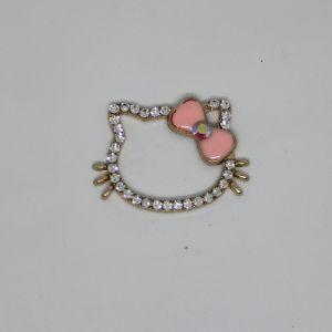 Кабошон, металл, цвет основы - золото, размер 43*32 мм, цвет светло-розовый (1уп = 10шт), Арт. КБС0364