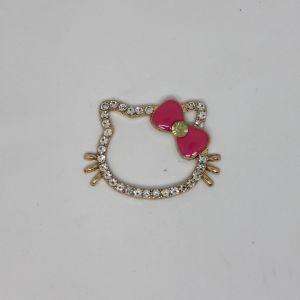 Кабошон, металл, цвет основы - золото, размер 43*32 мм, цвет розовый (1уп = 10шт), Арт. КБС0364