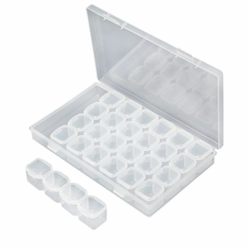 Контейнер для дизайна пластиковый 28 секций