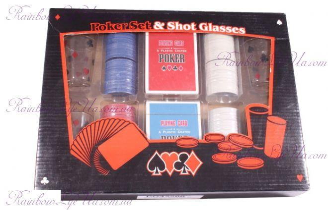 """Набор для игры в пьяный покер 200 фишек, 4 рюмки """"Duke"""""""