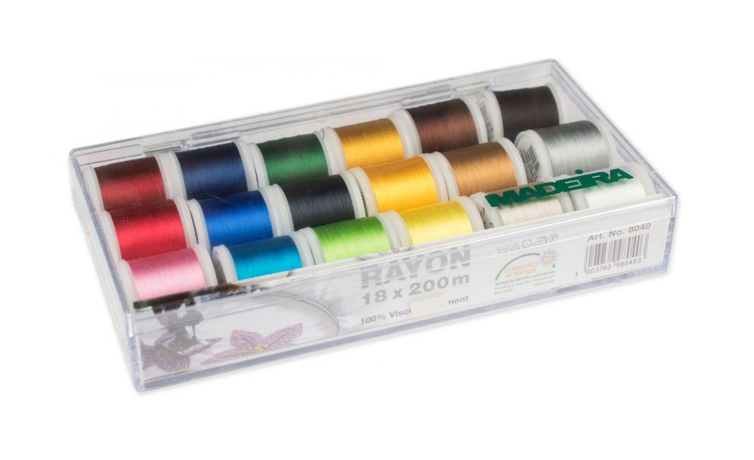 Набор вышивальных ниток Madeira Rayon (18*200м) арт.8040