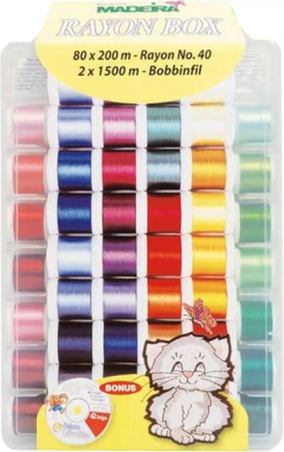 Набор вышивальных ниток Madeira Rayon (82*200м) арт.8082