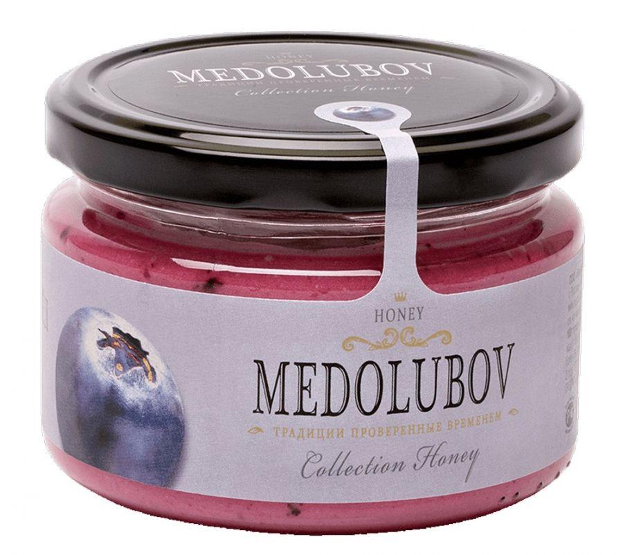 Крем-мёд Медолюбов с голубикой 250мл