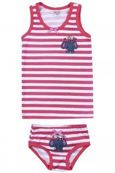 """Комплект белья для девочек Bonito kids 2-6 лет """"Слоненок"""" красный"""