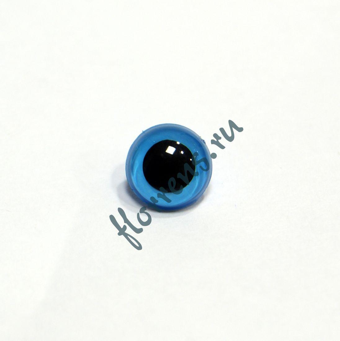 Глаза кристальные пришивные 10,5 мм / св. голубой