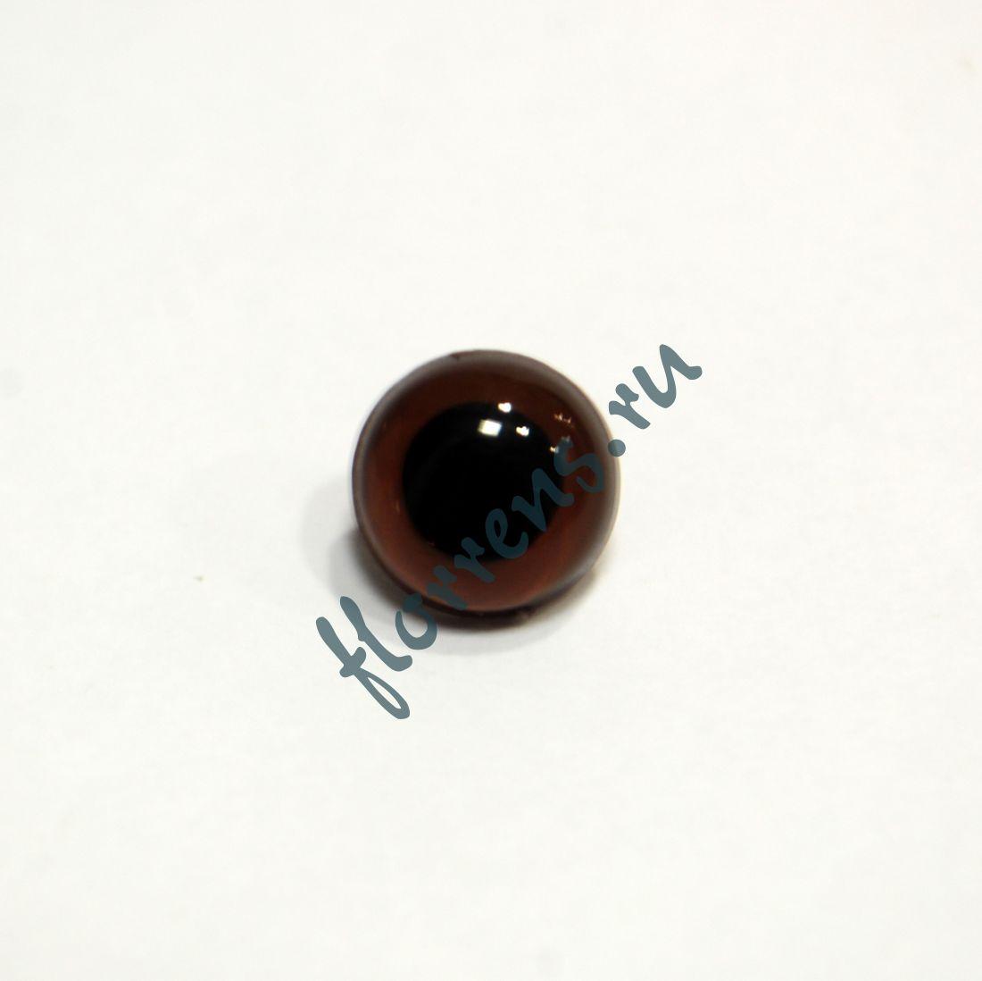 Глаза кристальные пришивные 10,5 мм / коричневый