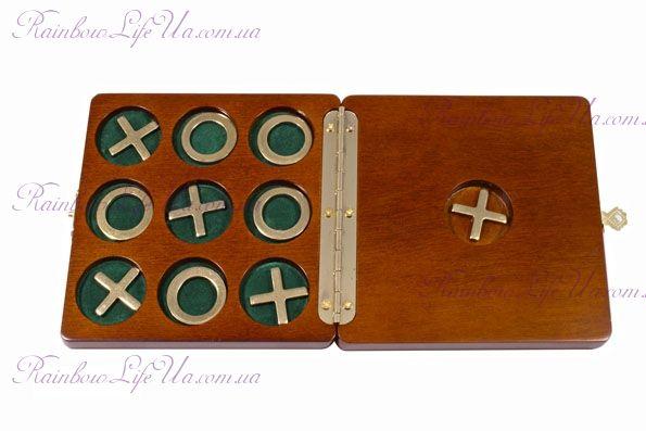 """Игра крестики - нолики в деревянной коробке """"Duke"""""""