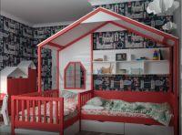 Кровать Домик угловой BabyLetto №2 (для двоих детей)