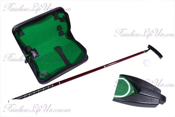 """Набор для гольфа в кожанном кейсе с механизмом возврата мяча """"Z.F.Golf"""""""