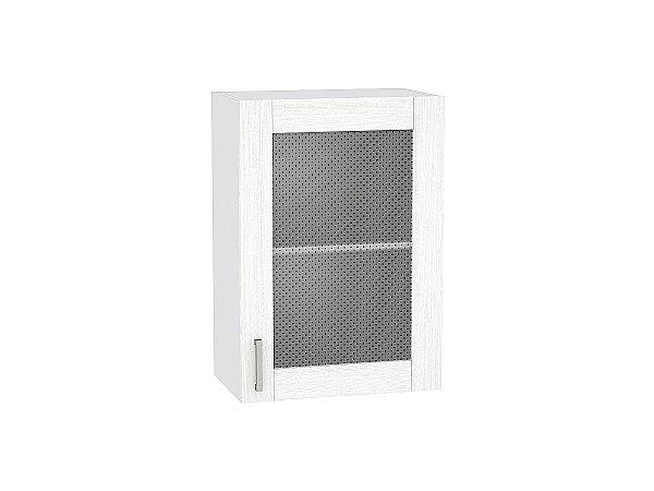 Шкаф верхний Лофт В500 со стеклом (Snow Veralinga)