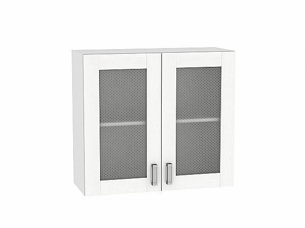 Шкаф верхний Лофт В800 со стеклом (Snow Veralinga)