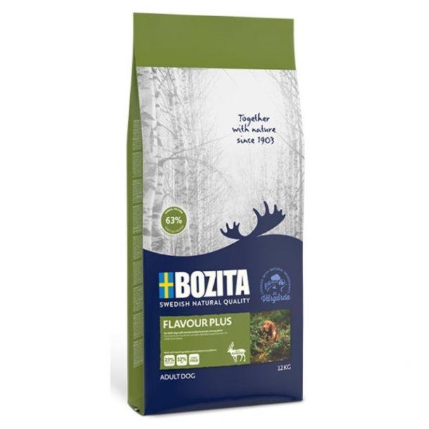 Корм сухой BOZITA NATURALES FLAVOUR PLUS для собак всех пород с олениной 12кг