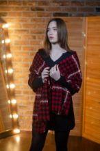 шотландский теплый плотный большой шарф с субрисунком,  100% шерсть ягненка Берти  BERTIE Bourtie LAMBSWOOL. плотность 5