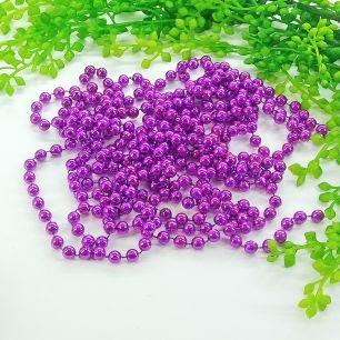 1м - Бусины на нитке (фиолетовый) 7мм