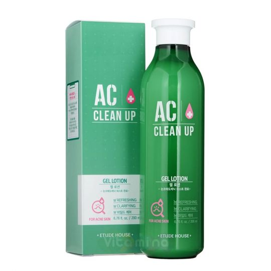 Etude House Гель-лосьон для проблемной кожи AC Clean Up Gel Lotion, 200 мл