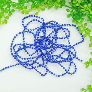 1м - Бусины на нитке (синий) 4мм