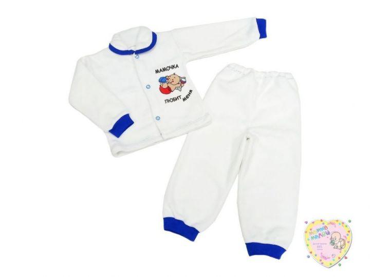 Костюм: кофта на пуговицах, штаны dC-KS013-FL (флис с надписями)