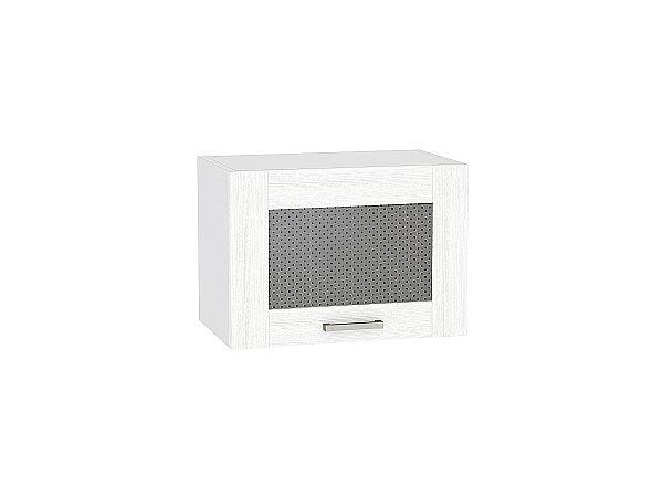 Шкаф верхний Лофт ВГ500 со стеклом (Snow Veralinga)