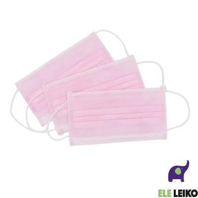 Маска розовая медицинская защитная для лица из нетканных материалов (50/1000)