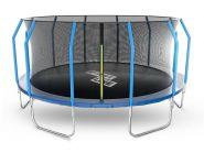 Батут StartLine Fitness 14 футов (427 см) с внутренней сеткой и держателями 14480S2M