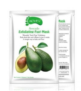 Пилинг носочки для кожи стоп Aliver с экстрактом Авокадо.(69877)