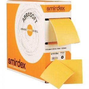 P1000 115*125мм*25м SMIRDEX 135 Abrasoft Абразивная бумага на поролоновой основе в рулоне с перфорацией